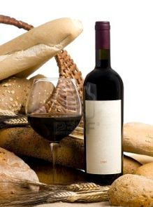 670502-a-glass-of-wine-and-assorted-breads-the-wine-bottle-has-a-blank-lable-that-can-be-filled-in