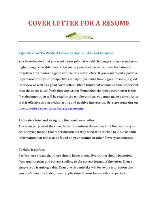 how to write cv and cover letters