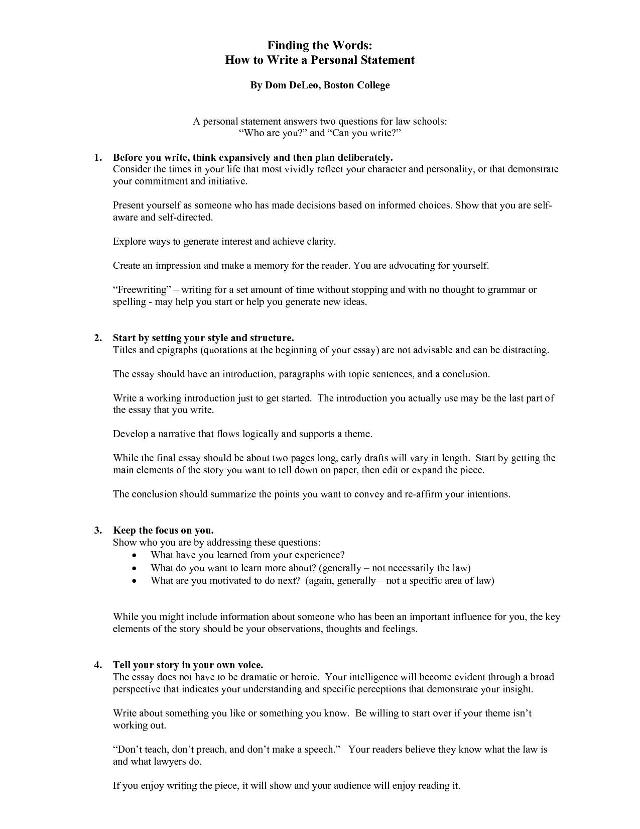 Outcomes statement how to write