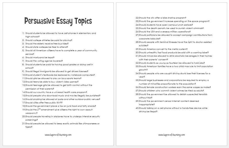 persuasive writing topics for grade 3 students This strategy guide focuses on persuasive writing and offers specific methods on how you can help your students use it to improve their critical writing and thinking skills.