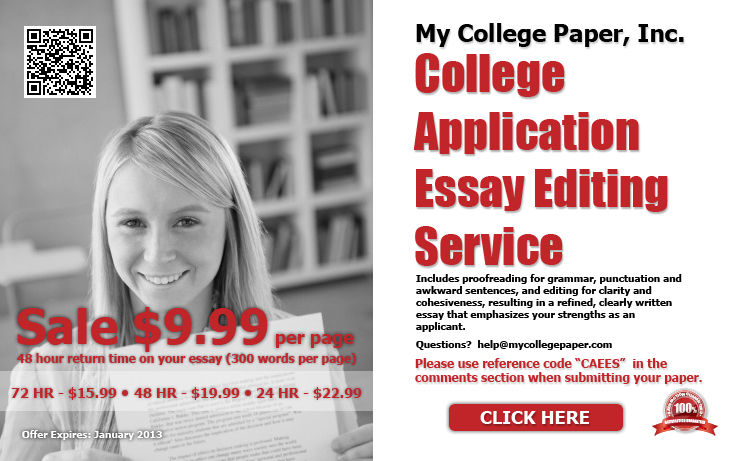 Advantages of our college essay editing services