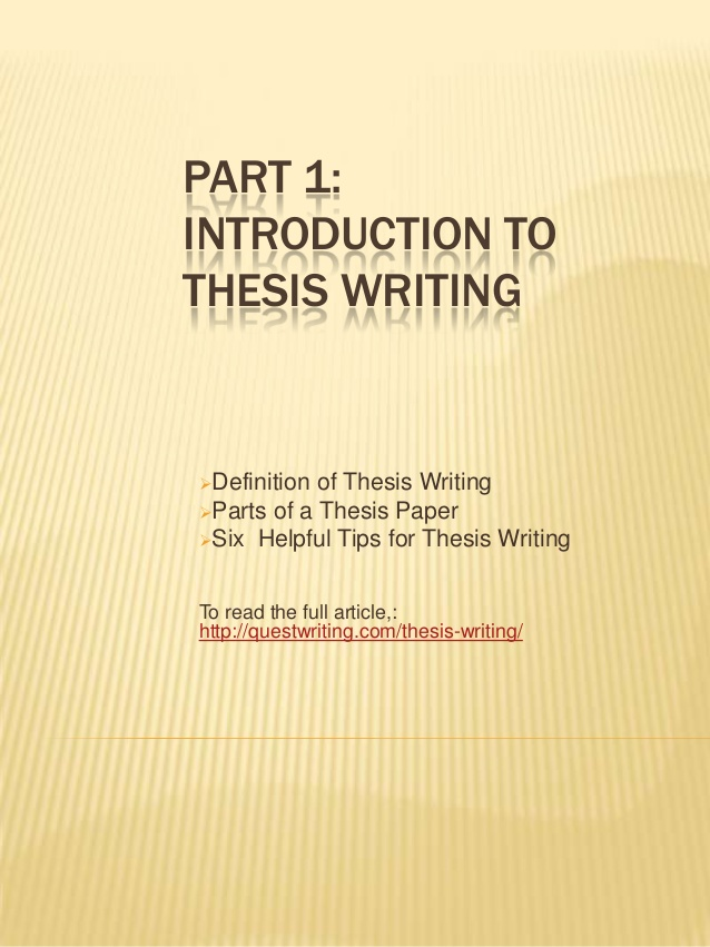 Introduction Thesis