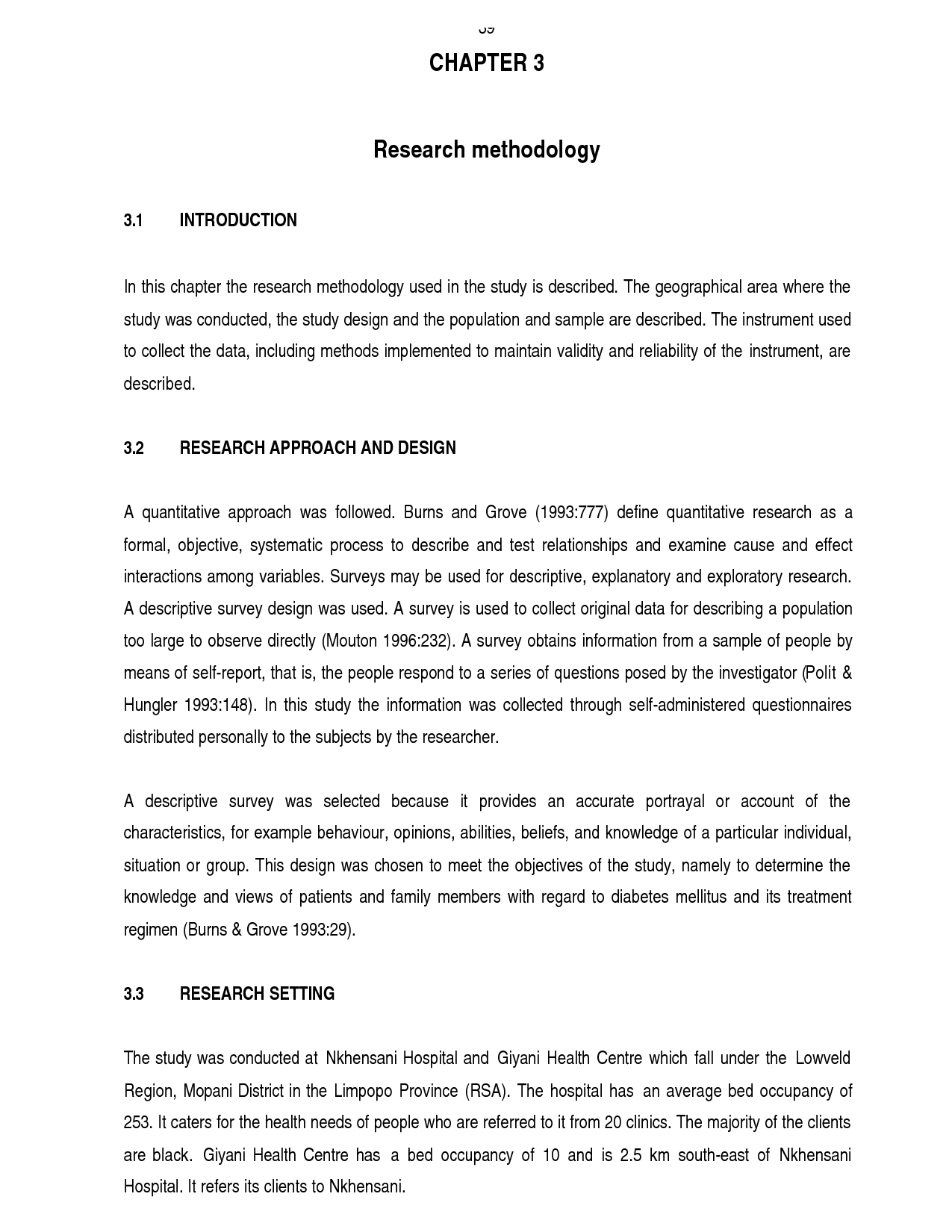 methodology thesis paper