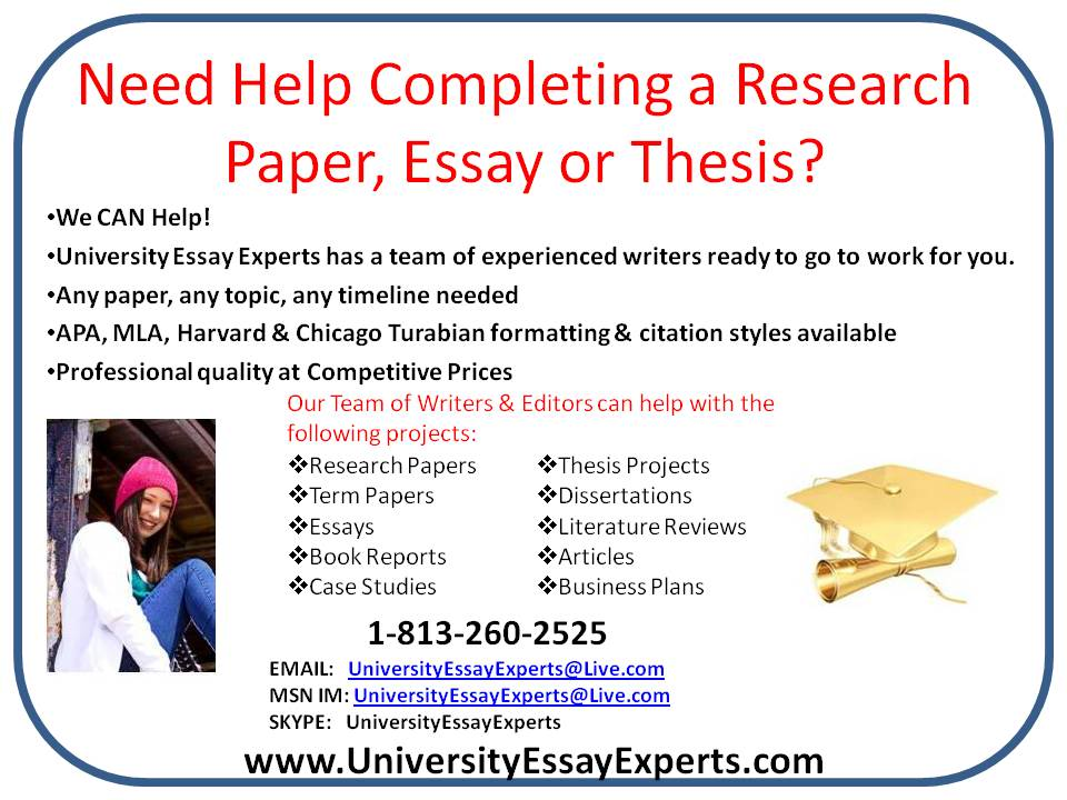 Help in write a research paper research
