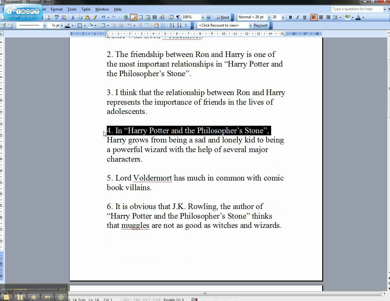 Thesis for the help