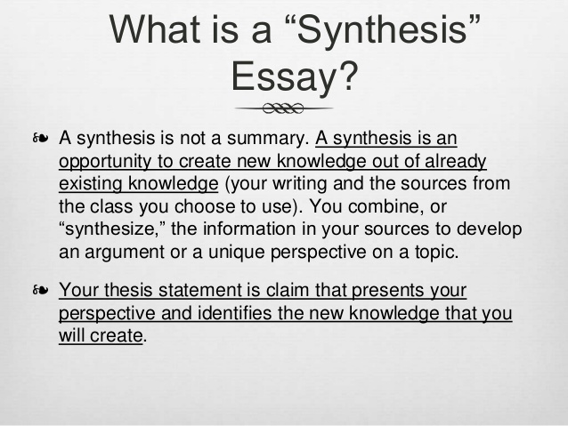 Is It Hard to Write a Synthesis Paper?