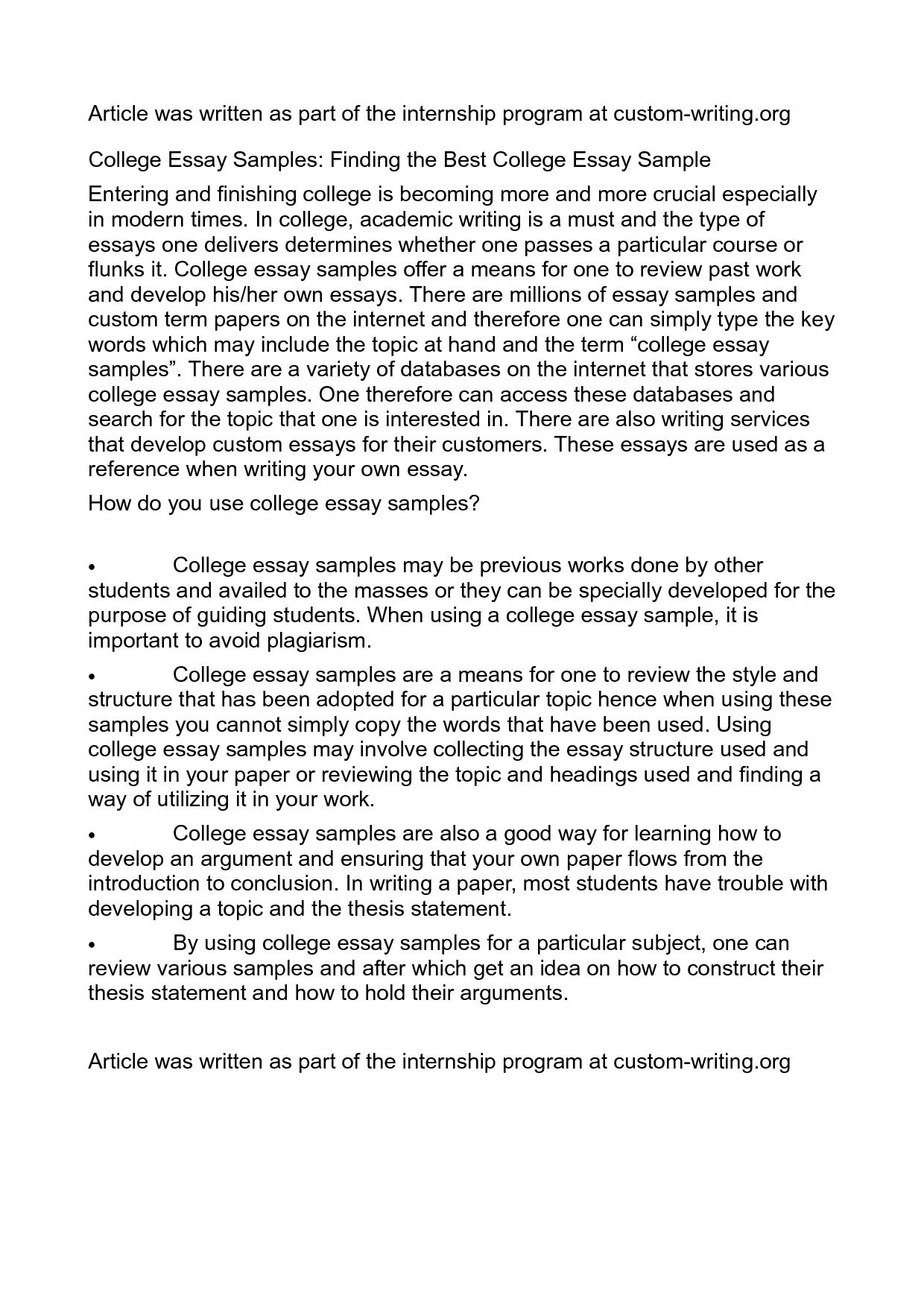 A good college essay engne euforic co