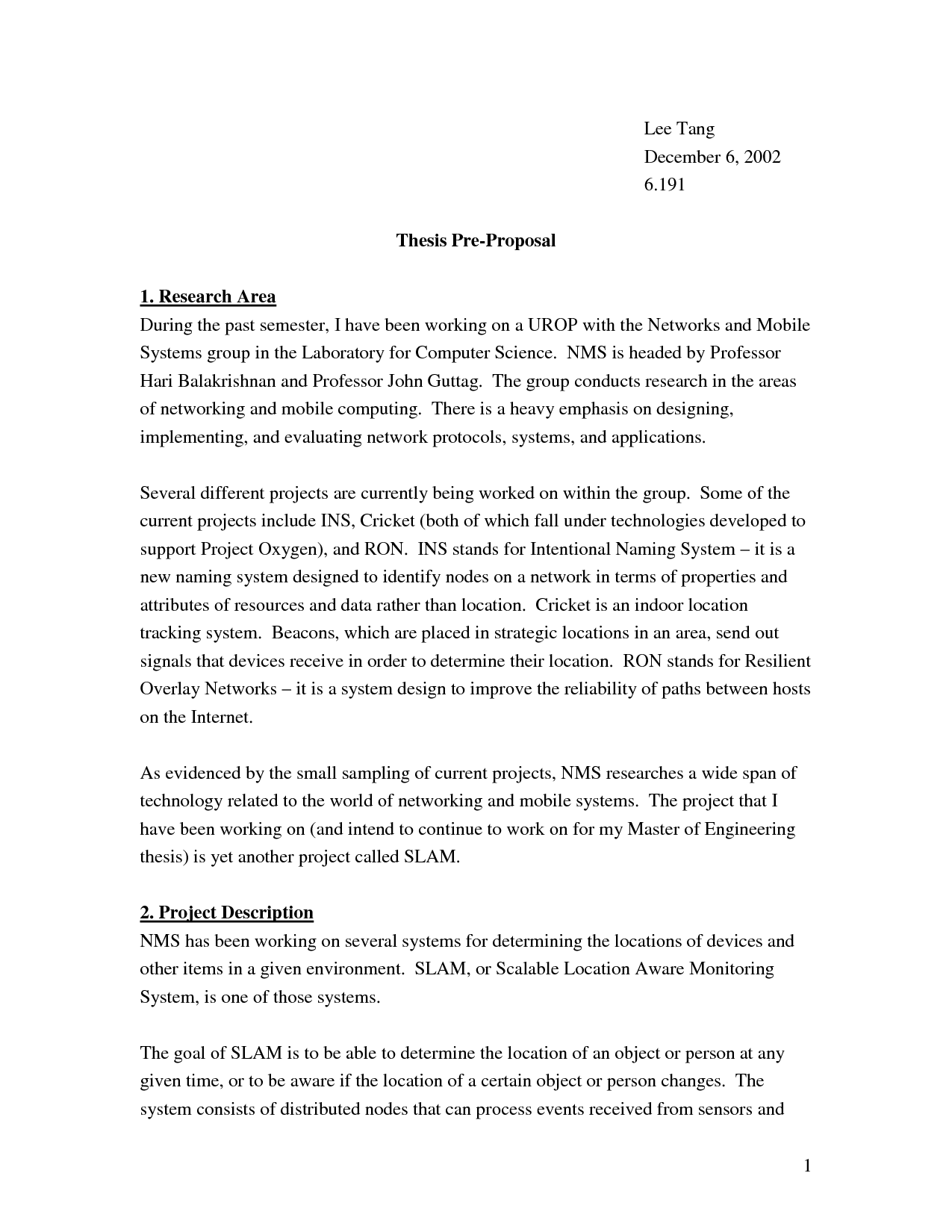 thesis proposal computer technology