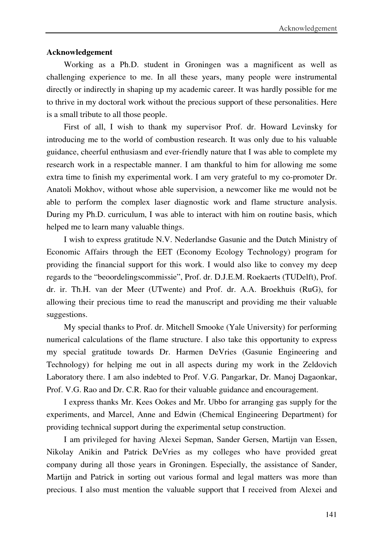 Acknowledgements Dissertation