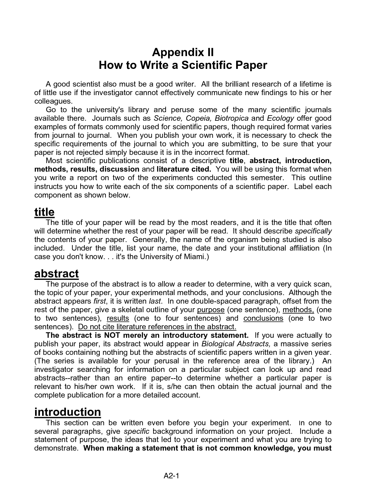how to write scientific research paper An annotated list of links to www based, full-text information on how to conduct ethical research, read and write a scientific paper, write a structured abstract,.