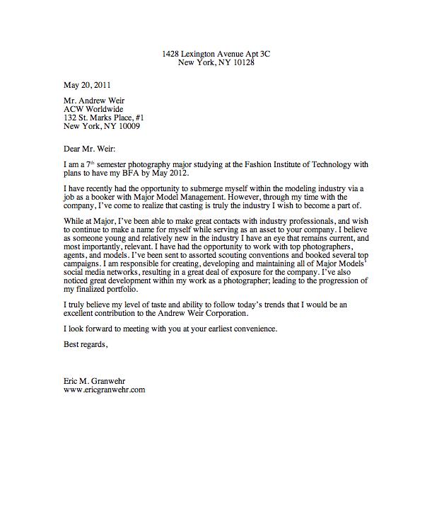 email job application letter