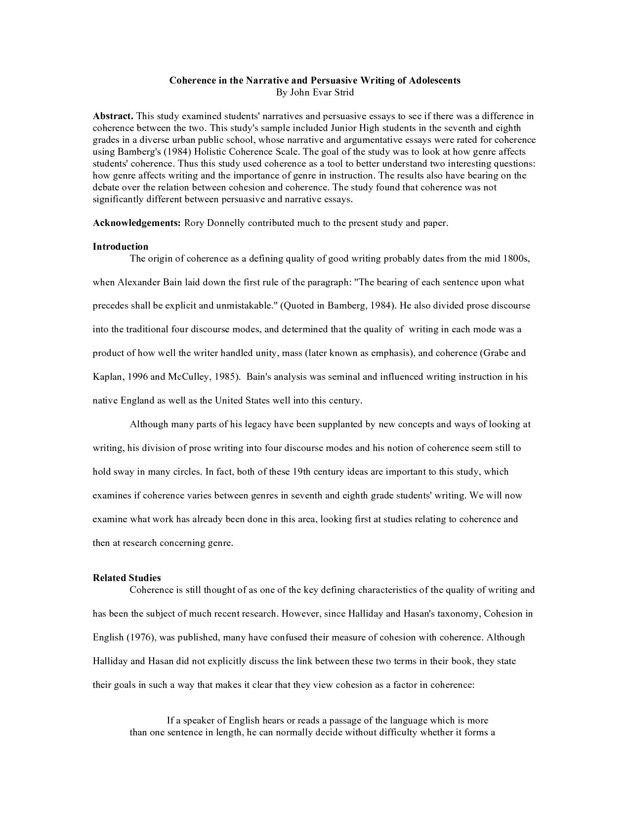 Sample Argumentative Essay Middle School