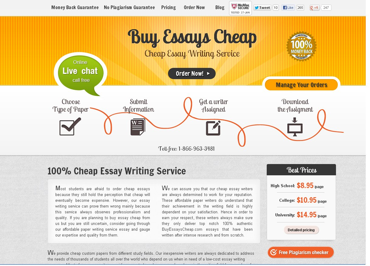 Cheap essay writers