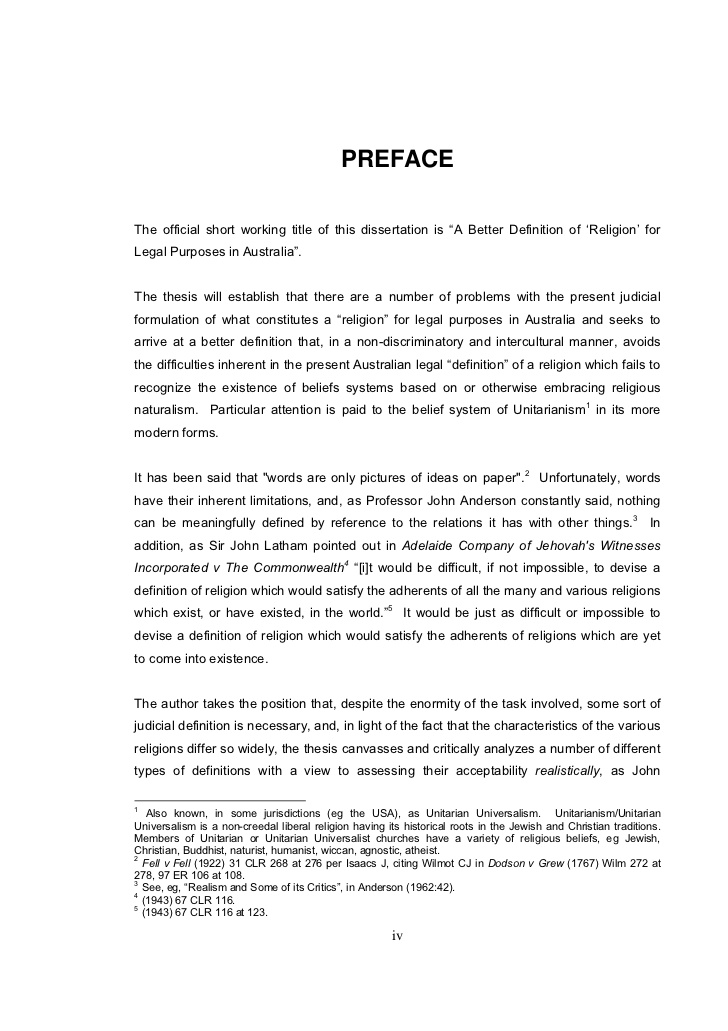 does preface go dissertation Synopsis: a foreword, preface, and introduction can each play a pivotal role in a book's marketing plan understanding the differences, and how to use each to your advantage, can help propel your book to critical and financial success 1 you will learn the fundamental differences between a book.