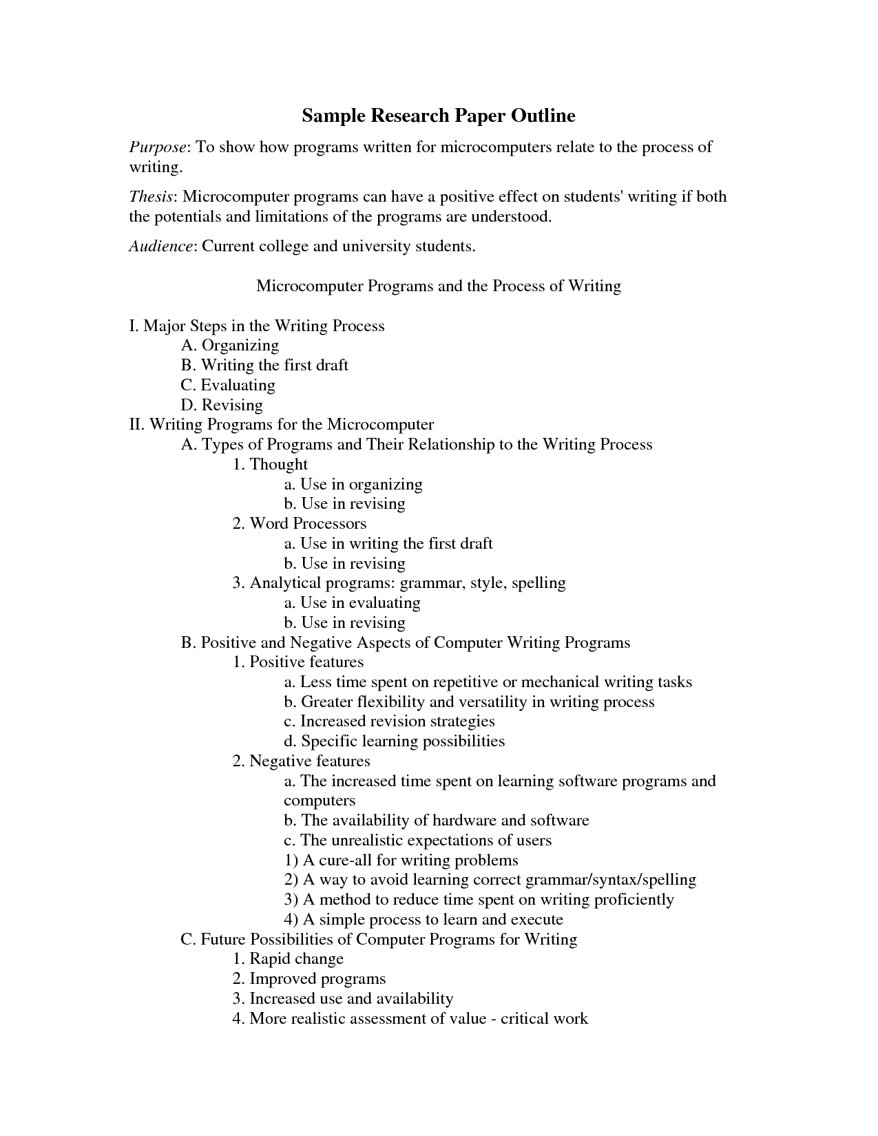 Superb Writing A Research Paper Outline
