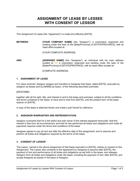 Master thesis agreement