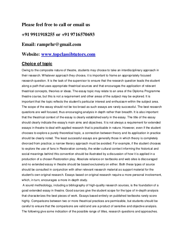 ib extended essay introduction