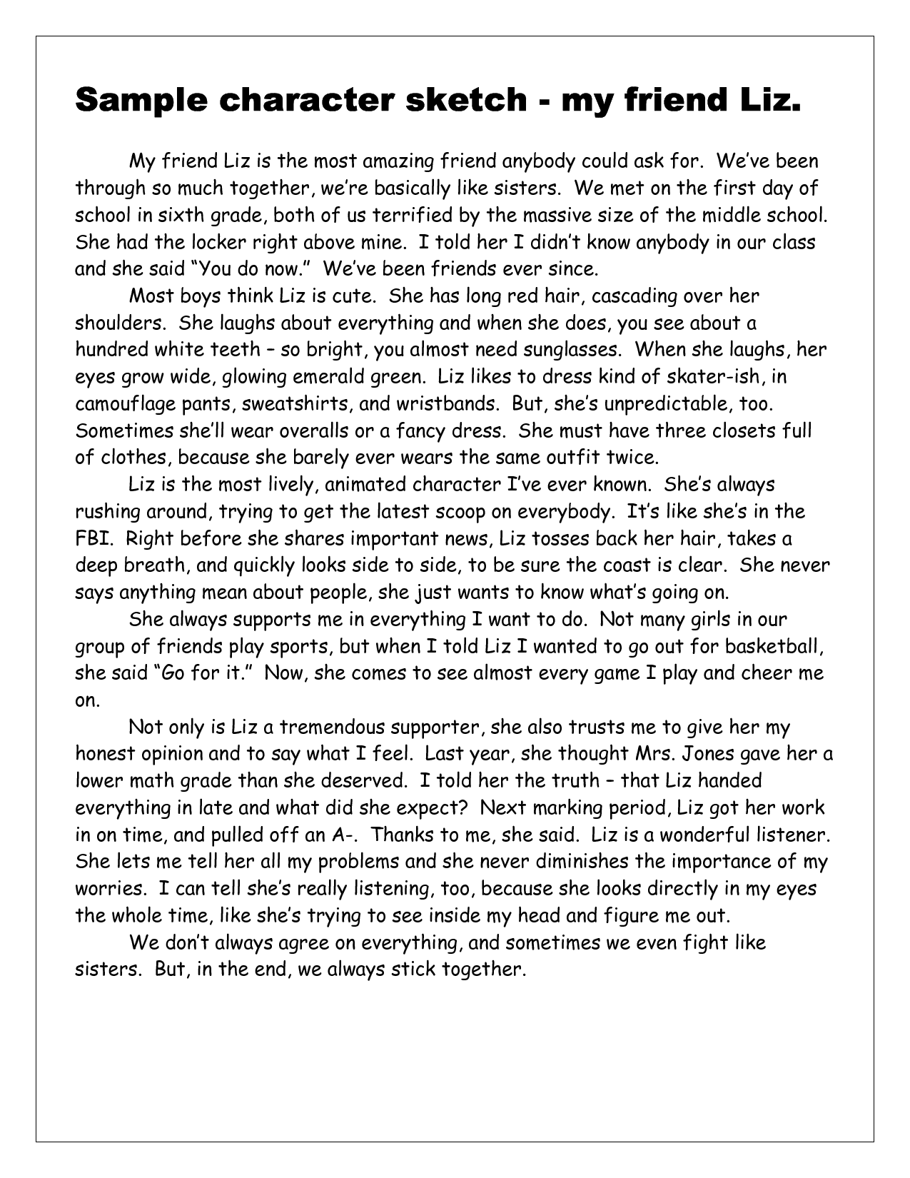 Essay about the best friend