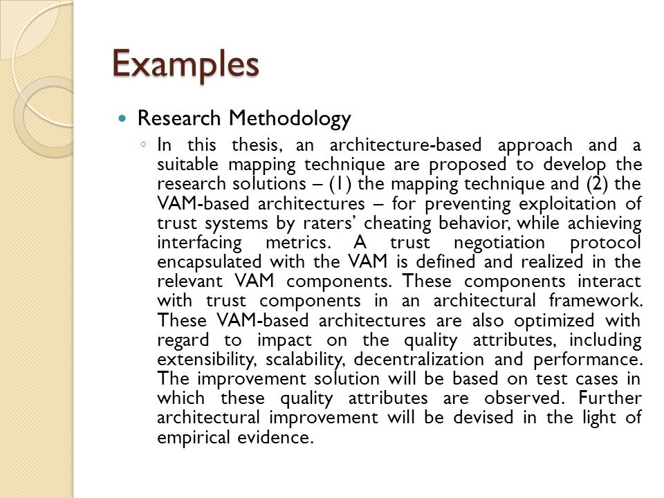 writing the methodology section of a research paper