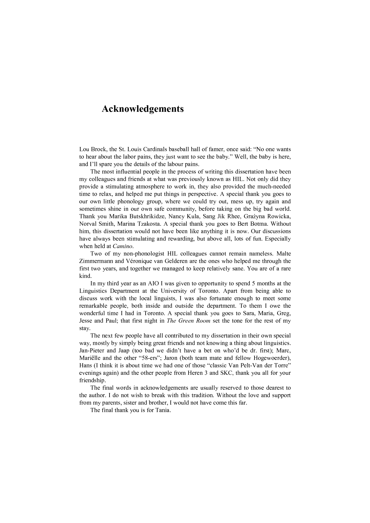 acknowledgement for dissertation writing