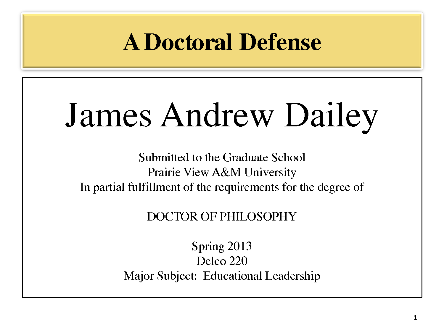 Phd thesis defending