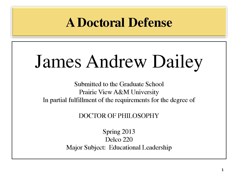 Dissertation doctorate
