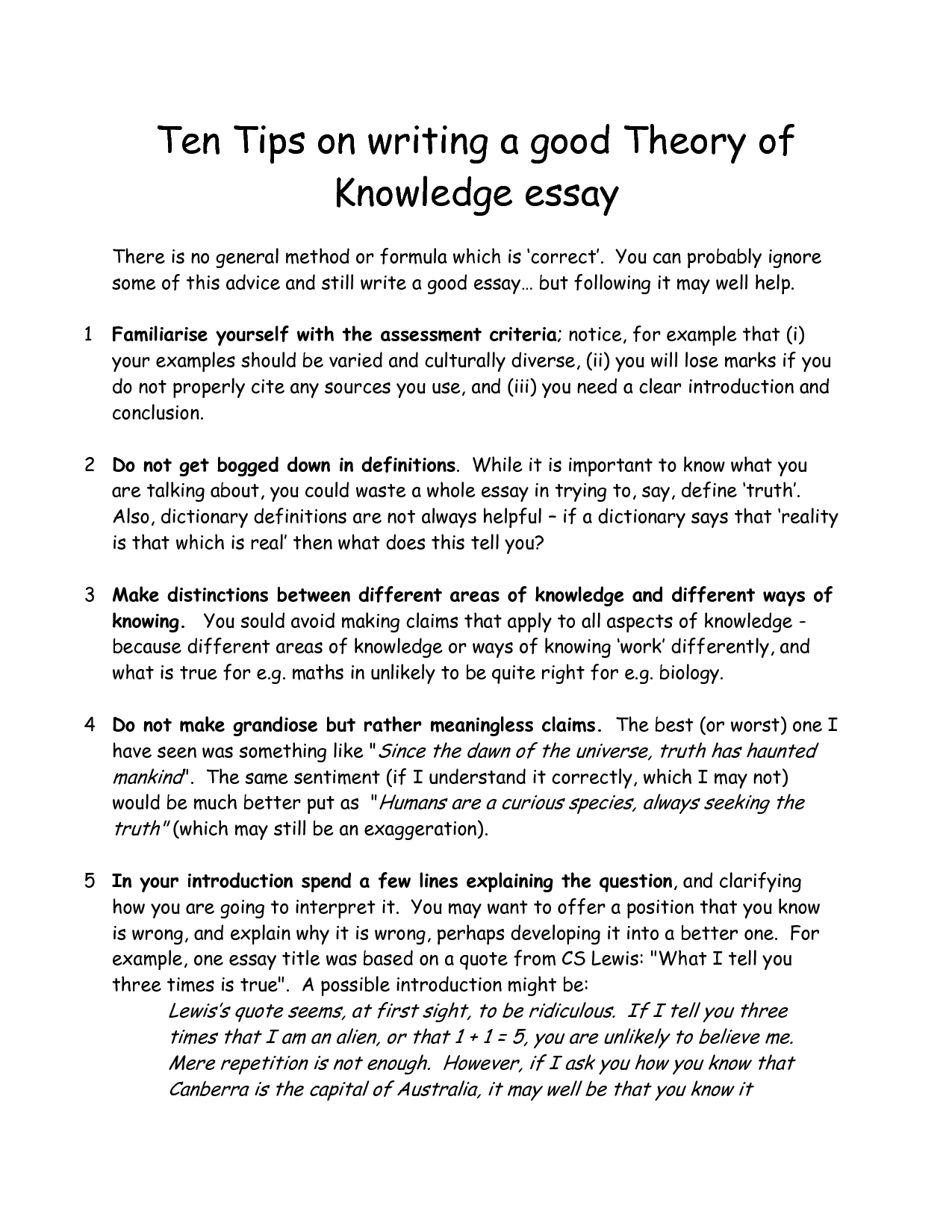 How To Conclude An Essay About Yourself  How To Write An