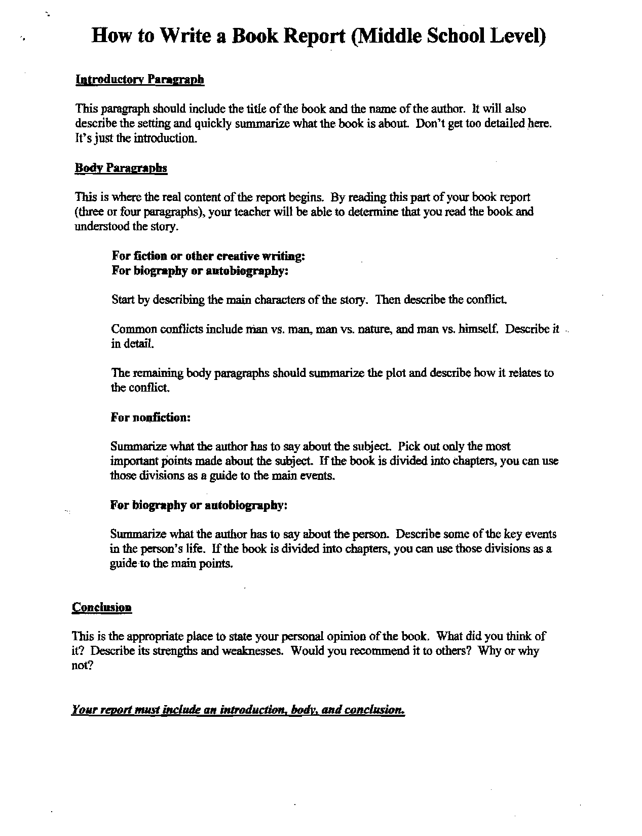 writing a book report middle school Book report for middle school - writing a custom research paper is go through a lot of stages experienced scholars engaged in the service will do your assignment within the deadline instead of wasting time in inefficient attempts, get qualified assistance here.