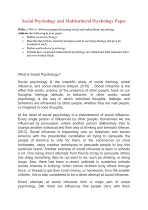 social psychology paper outline Teaching social psychology examples illustrating social journal of personality and social psychology: here is an essay from glenn.