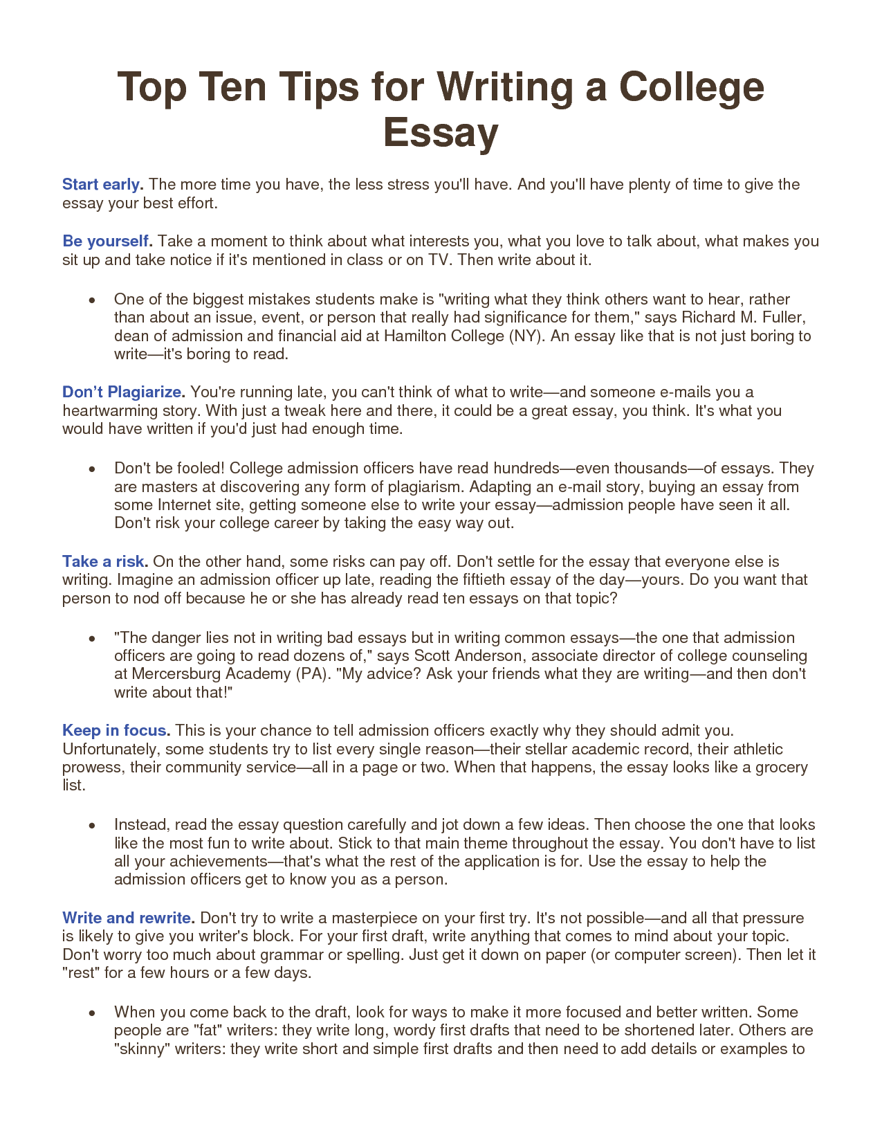 essay tips for college | best writing service