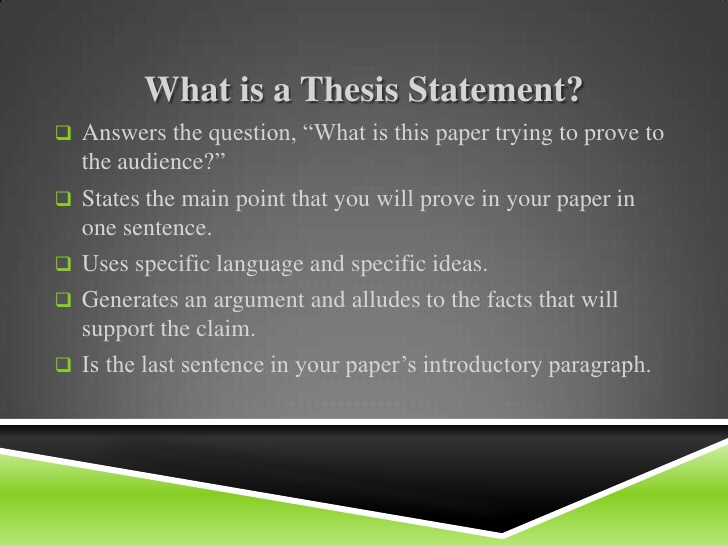 Whats Is A Thesis Statement