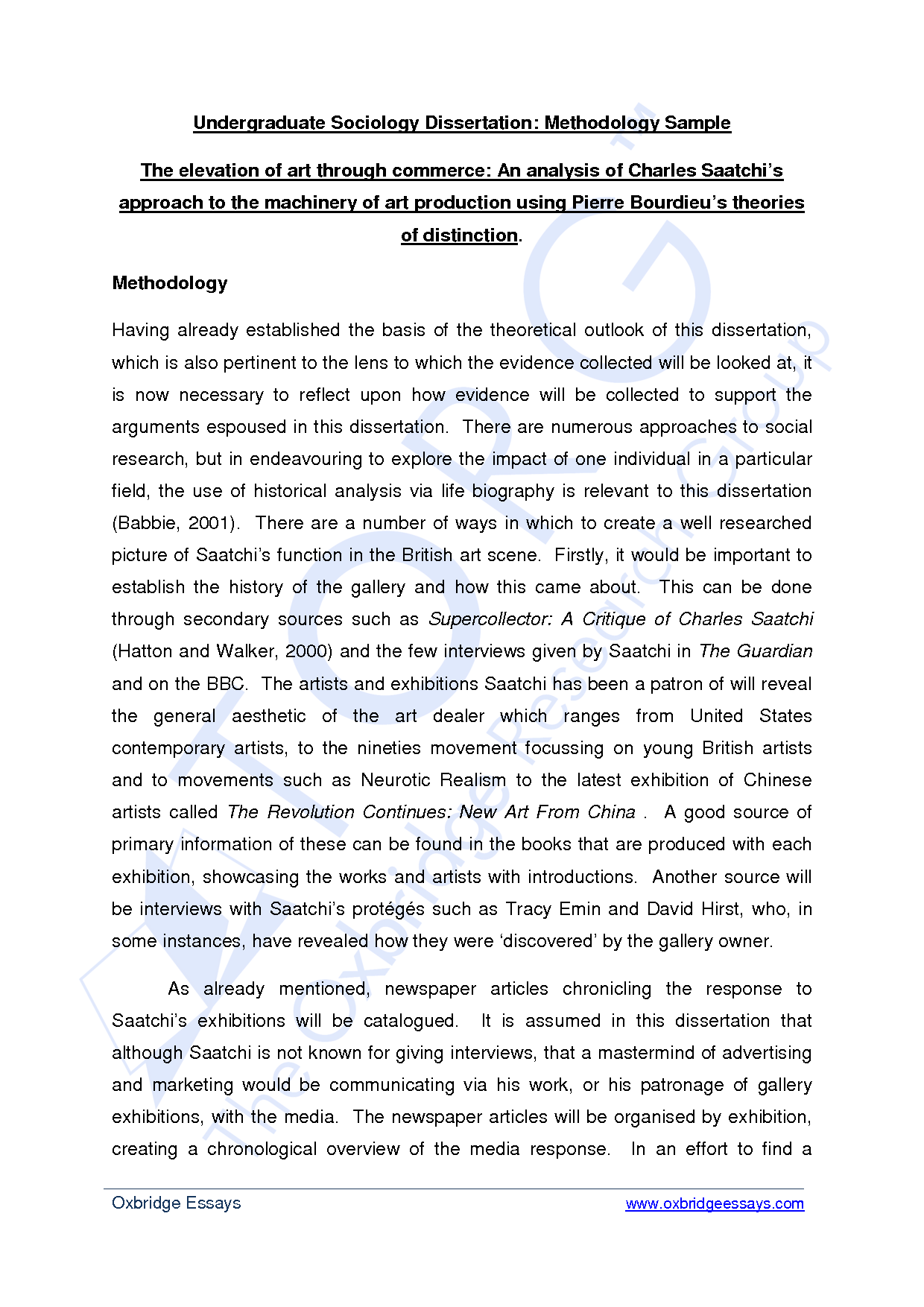 Dissertation writing for payment methodology section