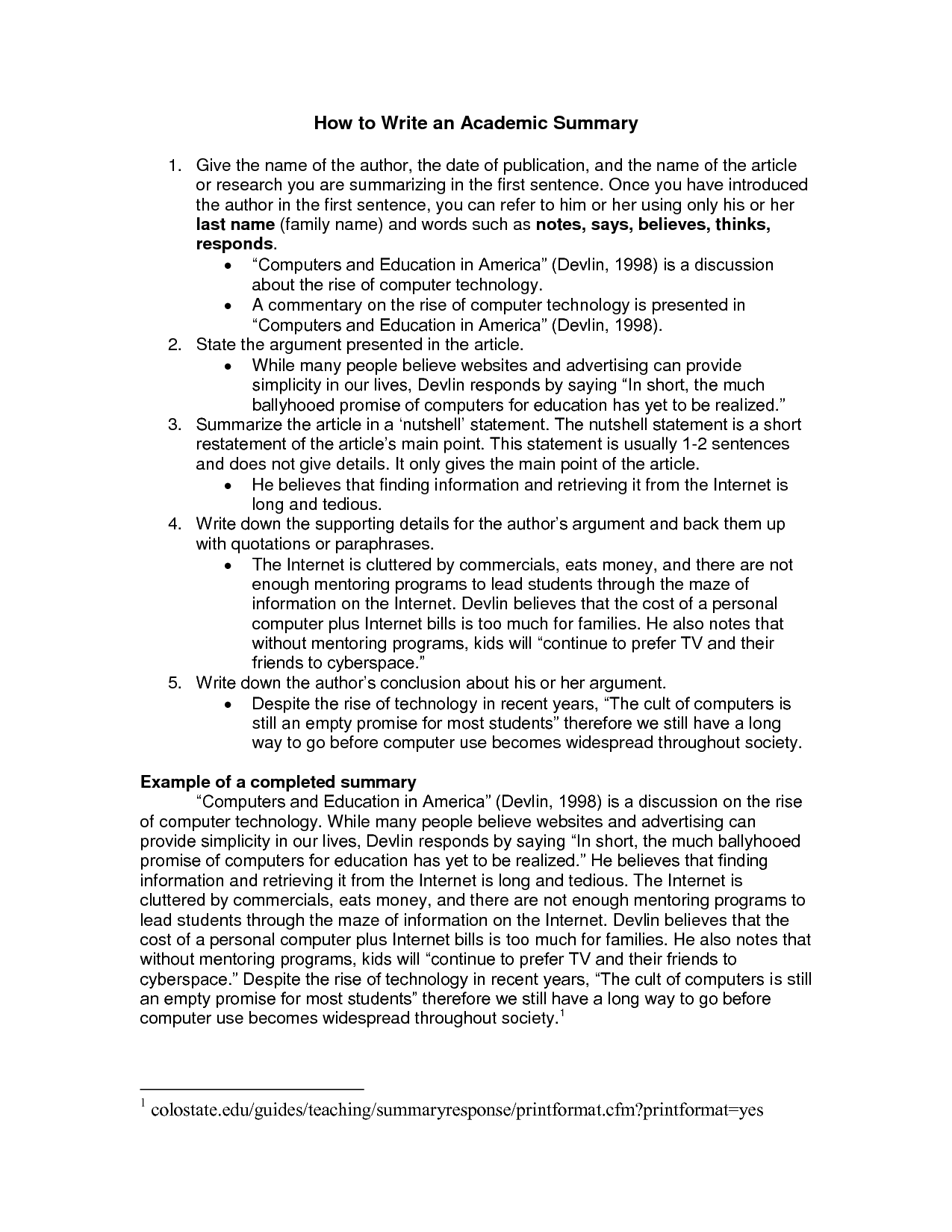 example academic essay
