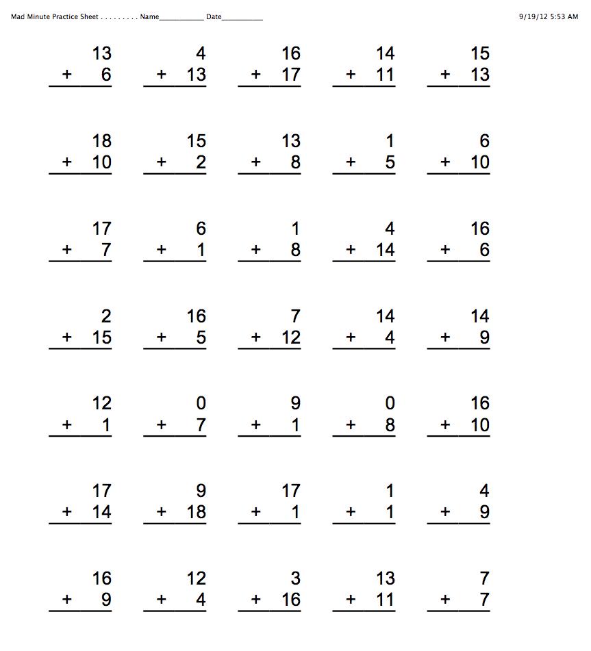Homework practice sheets