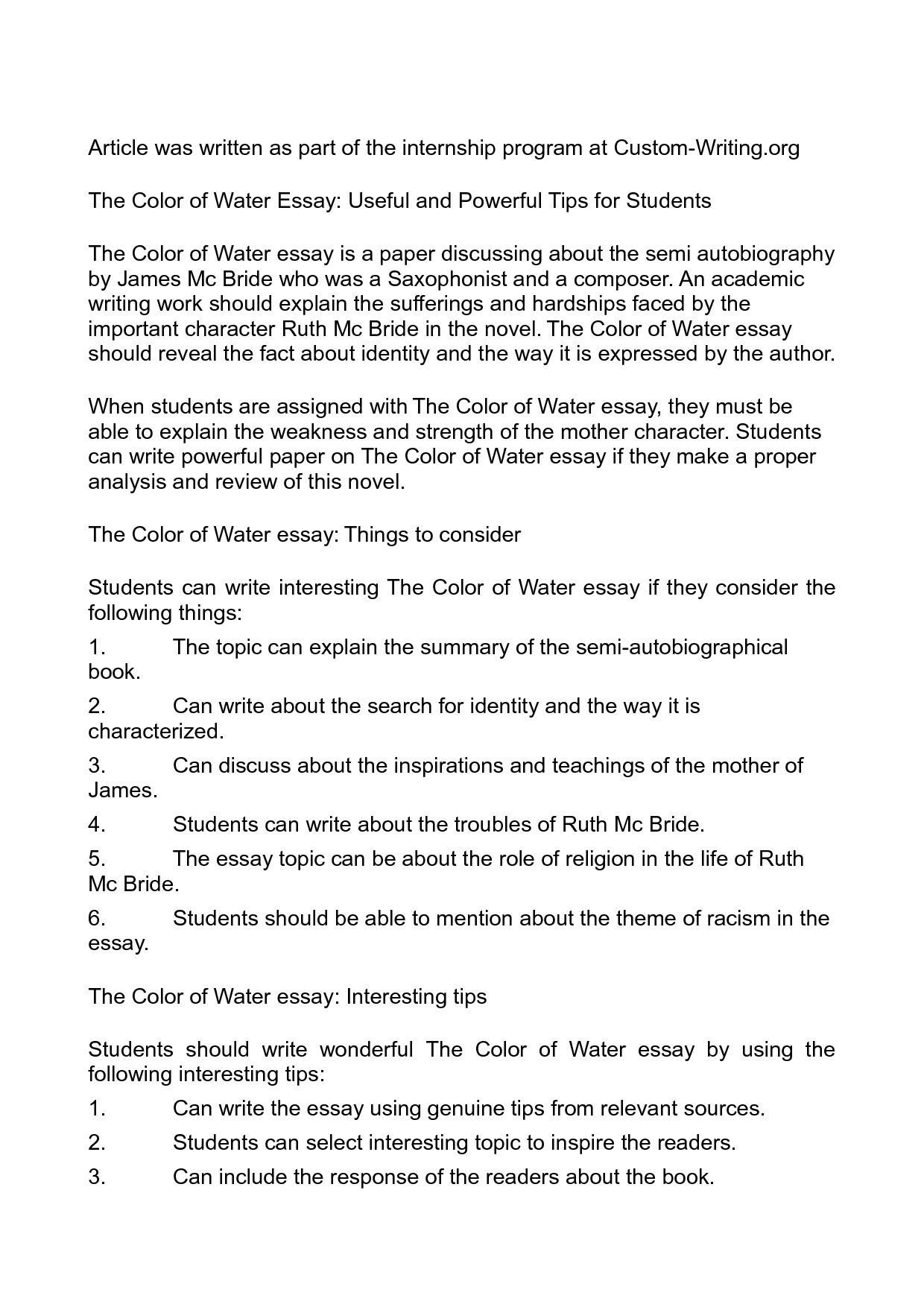 essays on water co essays on water