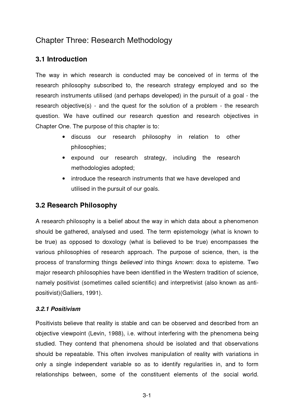 Research design sample thesis chapter 3