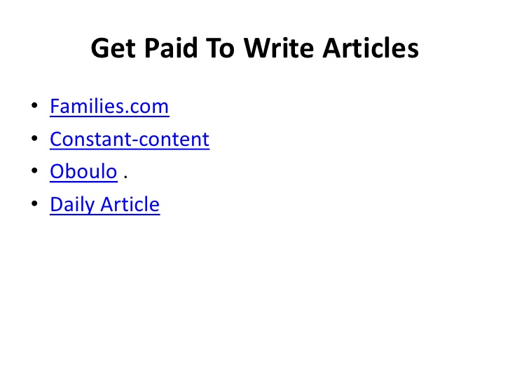 Get Paid To Write Essays