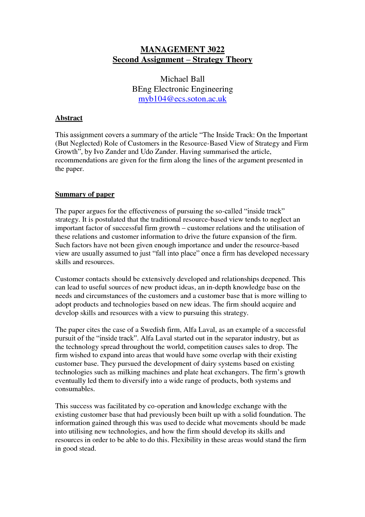 summary paper template co summary paper template