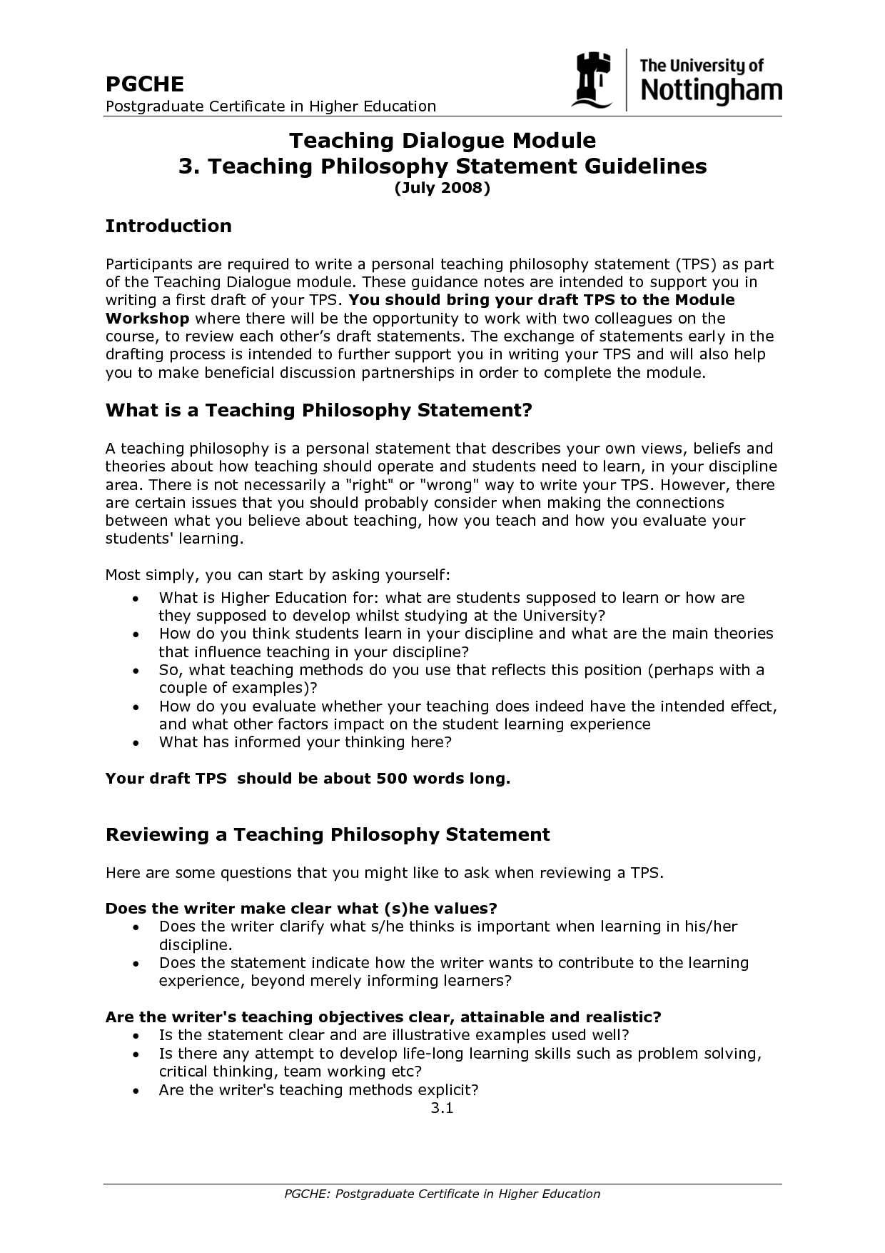 writing a personal statement for primary teaching