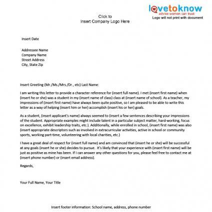 Reference Letter For A Student from davidsonrealtyblog.com
