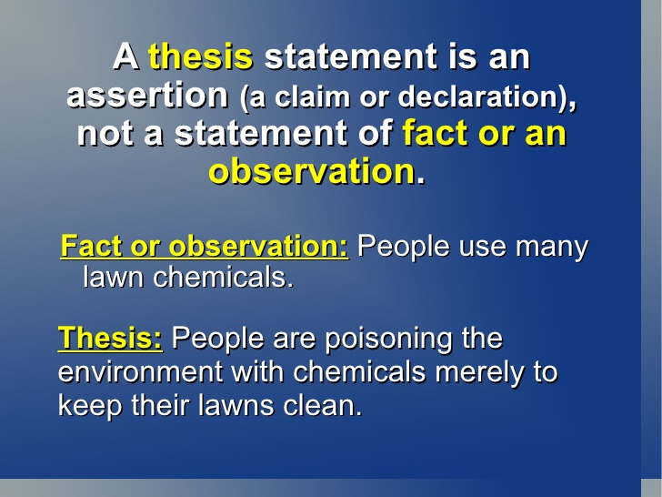 thesis statement defintion