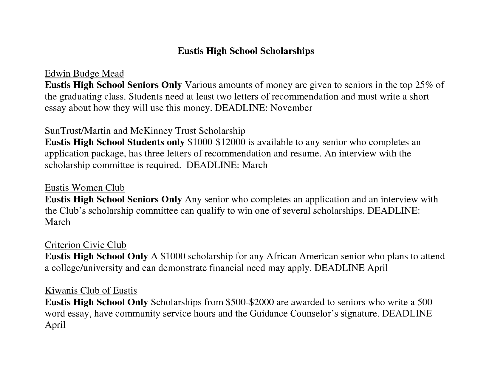 scholarships essays for high school students  top rated
