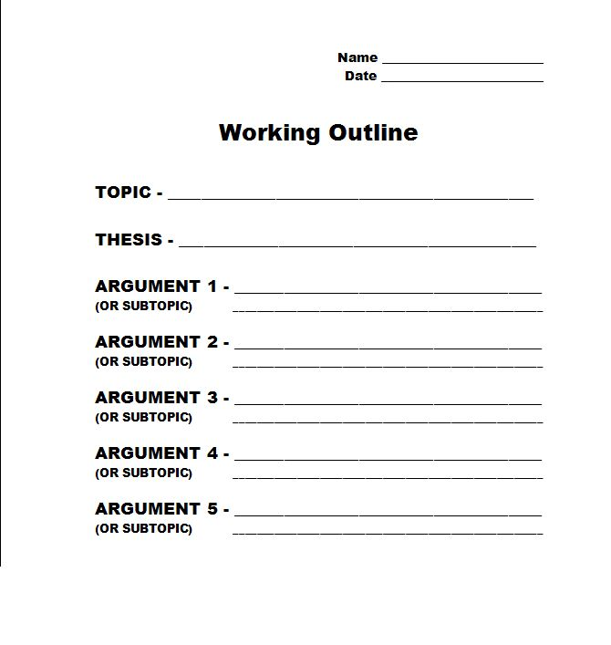 writing an outline for a paper An outline is a formal system used to develop a framework for thinking about what should be the organization and eventual contents of your paper an outline helps you predict the overall structure and flow of a paper why and how to create a useful outline the writing lab and the owl purdue.