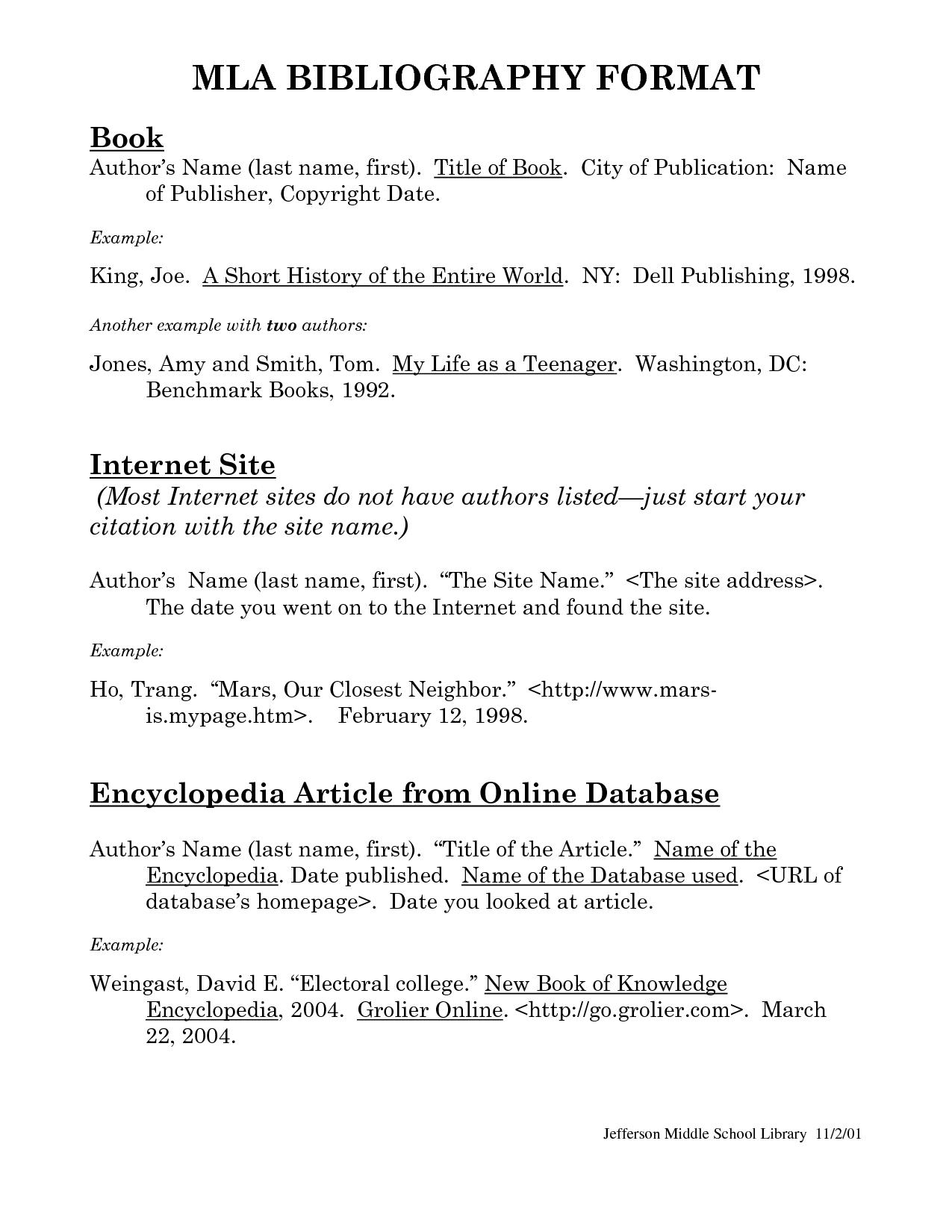 mla format online