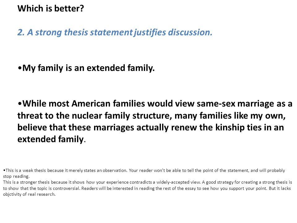 thesis statement for argumentative essay on gay marriage