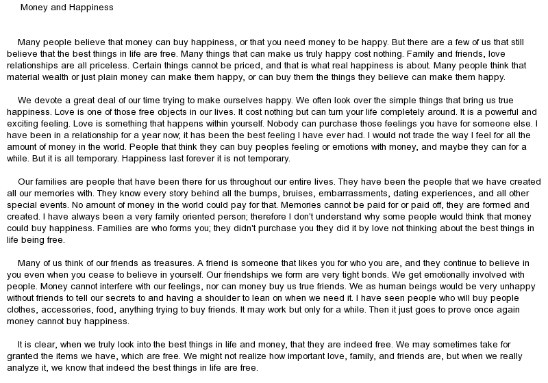 Money and happiness essay professional writing website