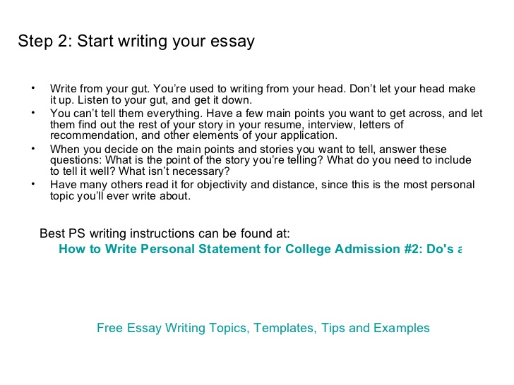 College essay writing practice
