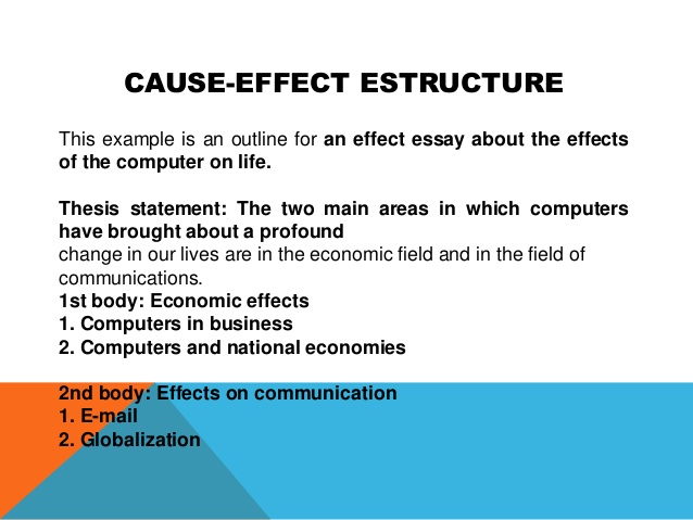 How To Write Cause And Effect Essay Introduction