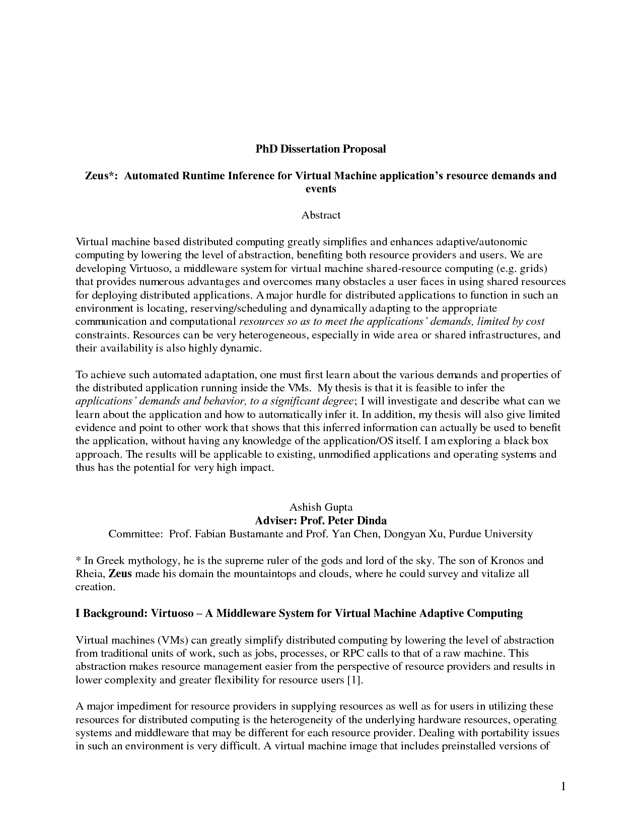 Phd dissertation abstract