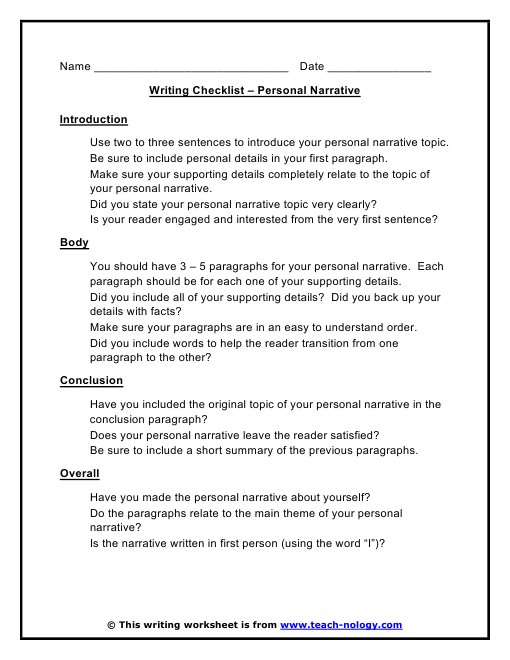 topics for narrative writing Writing topics thoughtful learning newsletter our monthly newsletter delivers innovative insights and classroom strategies for today's ela community and beyond.